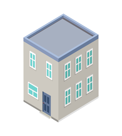city building: Isometric city building