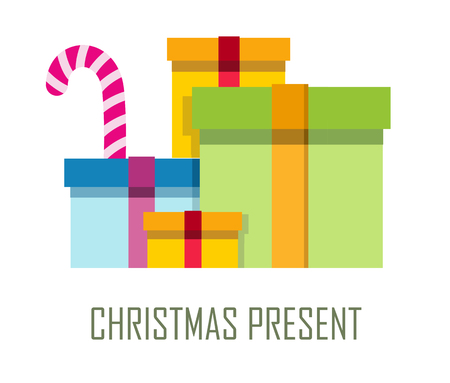 Ppile Of Colorful Wrapped Gift Boxes. Mountain Gifts Sale. Beautiful ...