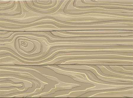 Natuurlijke Houten Achtergrond. Houtstructuur. Gestreepte hout bureau houten korrel plank. Grijze planken voor de herfst achtergrond. Natuurlijke houten planken. Messy grungy crack beuk, eik tafel of vloer. Vector Stock Illustratie