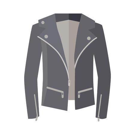waterproof cape: Jacket on Zipper Isolated on White. Unisex. Vector Illustration