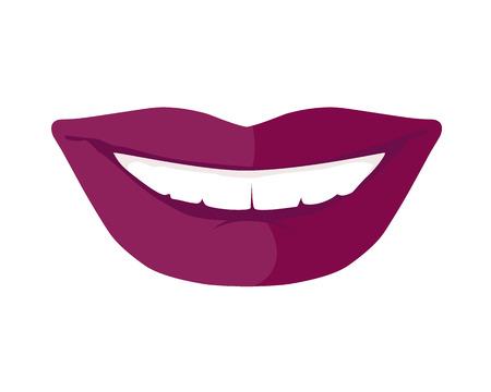 white smile: Women s Smile with Shining White Teeth Vector