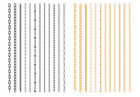 Chainlets de metal con cadena Variedad Enlace conjunto de vectores