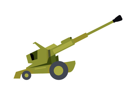 howitzer: Howitzer Vector Illustration in Flat Design Illustration