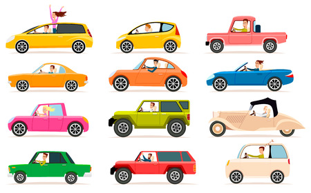 subcompact: Collection of Different Types of Automobile Cabine