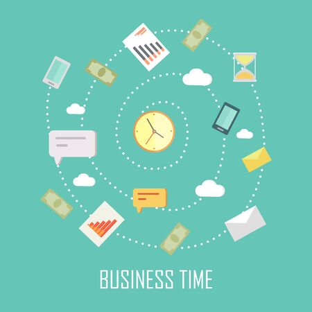 business time: Business Time Concept Stock Photo