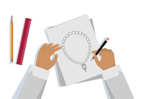 Diamond esquema grfico forma de diamante blueprint esquema de jewelry design banner malvernweather Image collections