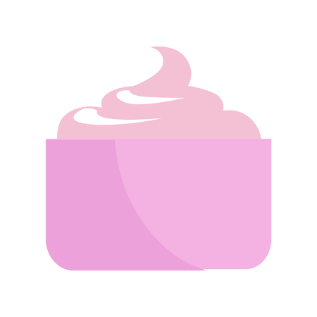 Refreshing Facial Cream. Unique Daily Moisturizer Illustration