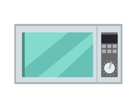 Microwave Oven Isolated Kitchen Appliance. Vector Illustration
