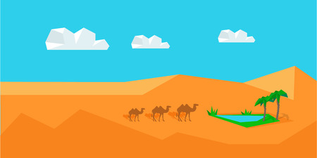 Transportation Goods by Camel. Worldwide Warehouse Illustration
