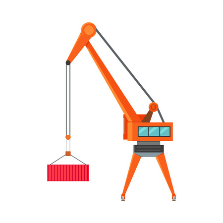 Industrial Crane Loading Container