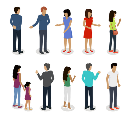 Set of Customers and Sellers Characters Vector Фото со стока - 70532853