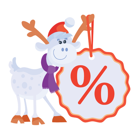 Little Toy Horse with Big Sale Discount Label. Illustration