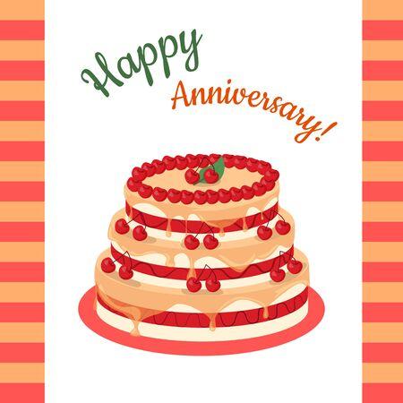 multi level: Happy Anniversary Cherry Pie Multi Level