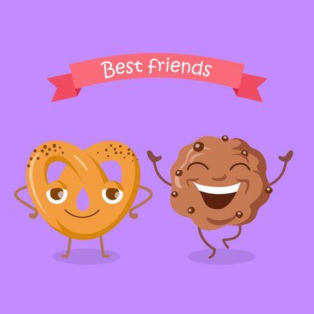 Best Friends Soft Pretzel and Chocolate Biscuit