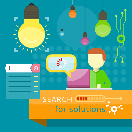 magnify: Search for Solutions Banner. Business Strategy