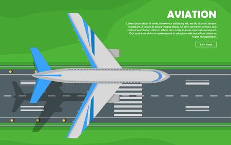 chassis: Aviation. Aircraft. Runway. Flight. Banner