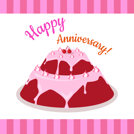 multi level: Happy Anniversary Strawberry Pie Multi Level
