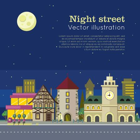 Night City Illustration Web Banner.