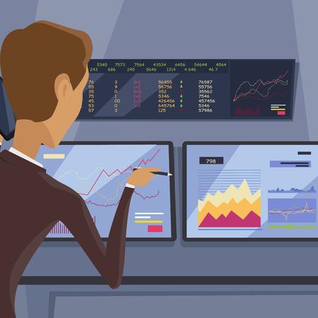 uprzejmości: Modern Online Trading Technology Illustration. Ilustracja