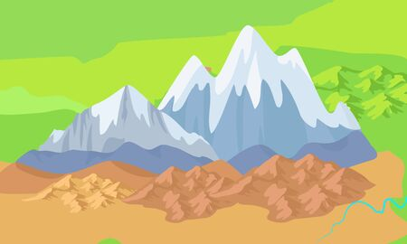 Asia Mountains on Map Significant Mountain Ranges Illustration