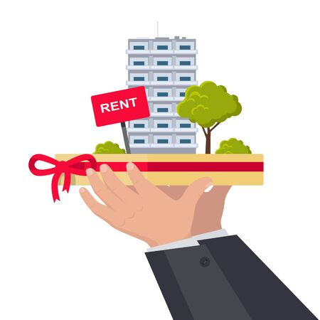 rent: Rent Concept Vector Illustration in Flat Design.