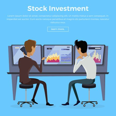 modern: Modern Online Trading Technology Illustration. Illustration