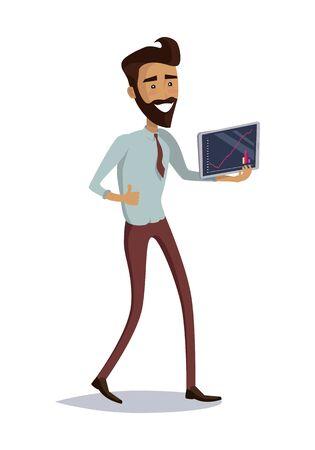 Business Progress Success Concept Illustration.
