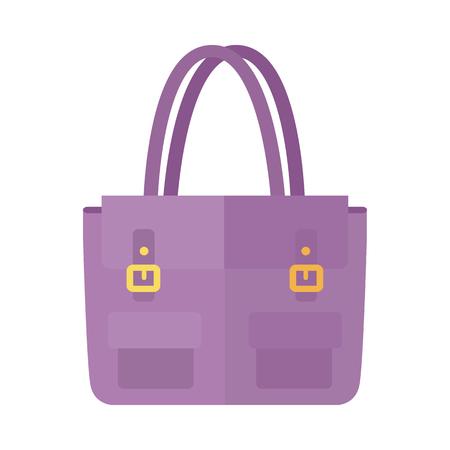 Ladies handbag in flat style. Female bag isolated. 일러스트