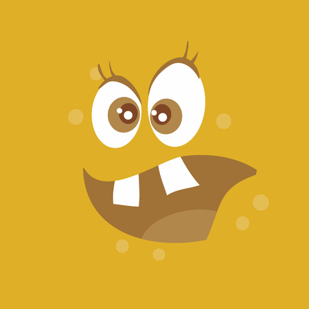 Funny Smiling Monster Smile Bacteria Character