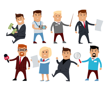 bureaucrat: Set of Profession Specialists Characters Vector.