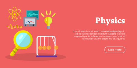 Physics Science Banners. Physical Equipment. Vector