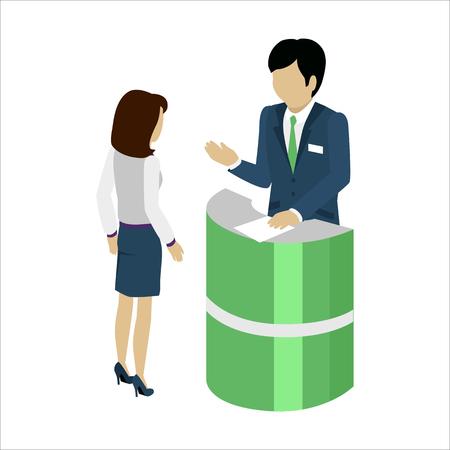 Reception Service Concept Vector Illustration. Stock Photo