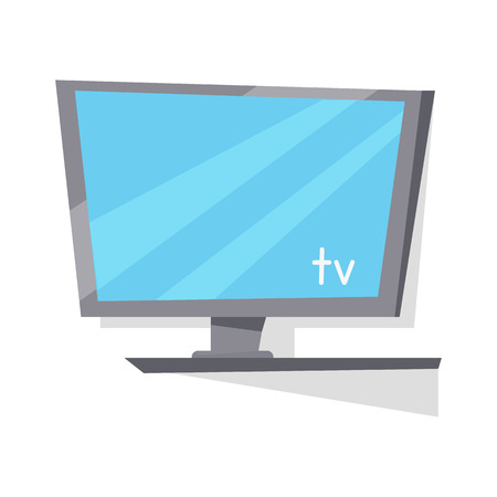 tv screen: LCD TV Monitor with Blank Screen. Illustration