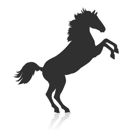 rearing: Rearing Sorrel Horse Logo