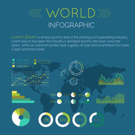 fluctuations: Word Infographic Flat Design Vector Illustration Illustration