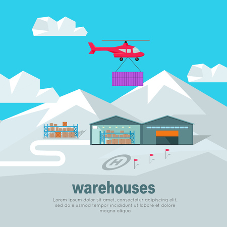 storage box: Helicopter Worldwide Warehouse Delivering.