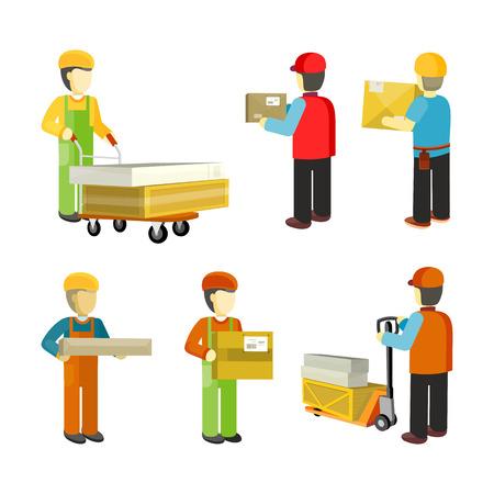 Peope Les travailleurs de l'entrepôt intérieur Isoated.