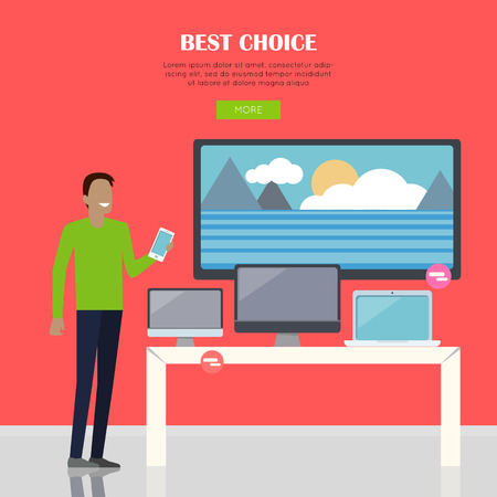 Best Choice Concept Иллюстрация