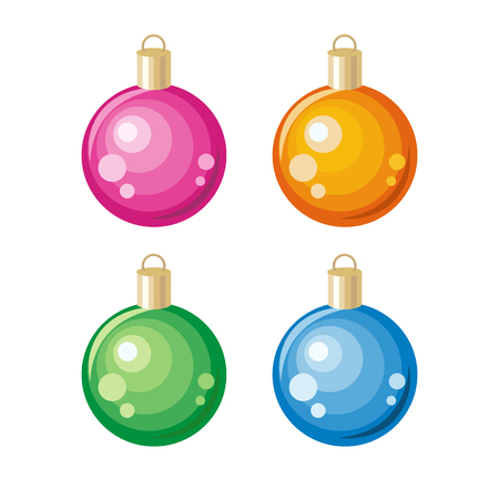 Set of New Year Toys Christmas Ornament Decoration