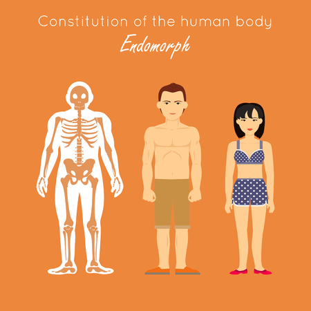 Constitution of Human Body. Endomorph. Endomorphic Stock Photo
