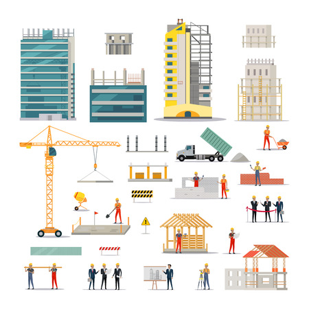 Building. Kinds of Various Works on Construction