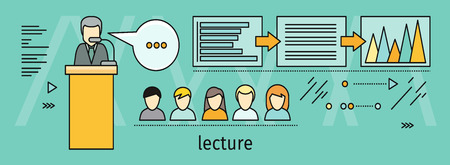 convention: Lecture Concept Vector Illustration In Flat Style