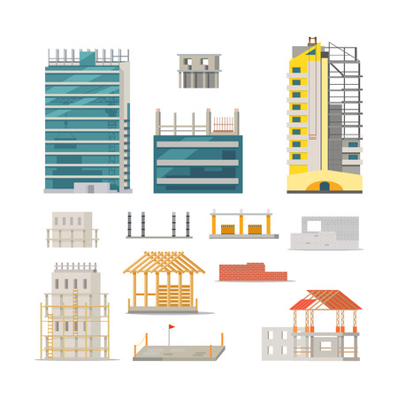 Building. Stages of Modern Building Construction