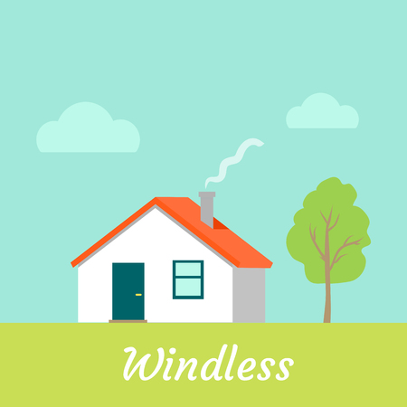 windless: Windless Weather. No Wind. Countryside Building.