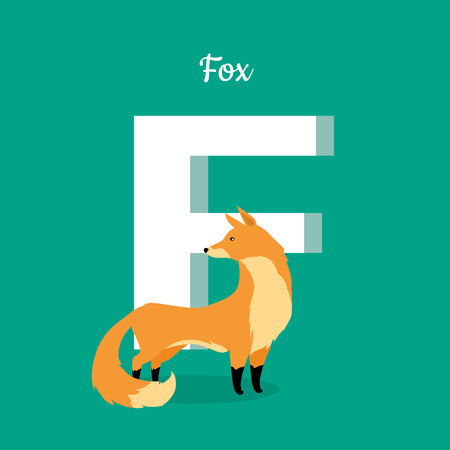Animal Alphabet Concept in Flat Design