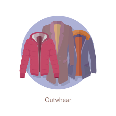 warm cloth: Outerwear Web Banner. Winter Collection for Man