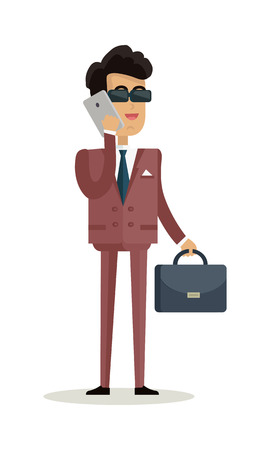 Businessman Character Vector Illustration in Flat Design