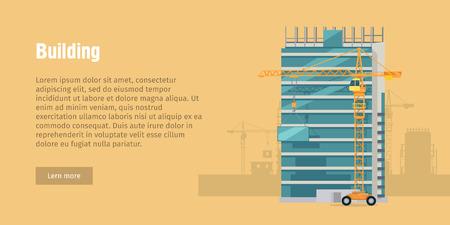 Budowa, Budowa nowego Współczesnego Budownictwa Ilustracje wektorowe