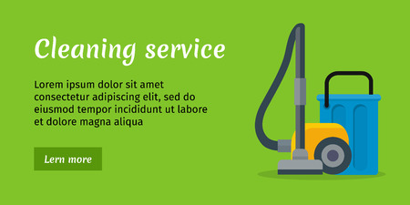 hoover: Cleaning Service Banner Illustration