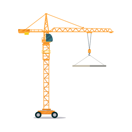 Industrial Yellow Crane Lifting Heavy Glass Elemet